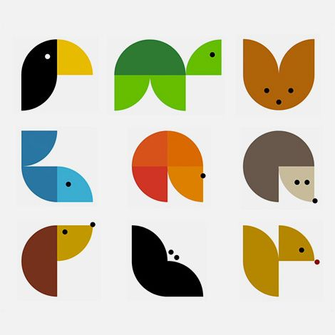 identity system designed for Animodul children's clothes and toys by Atipo. — using similar shapes to represent all these animals... so well done.