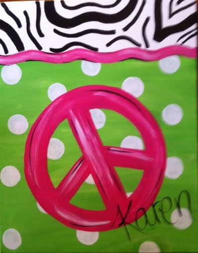 Put a monogram on in place of the  peace sign.