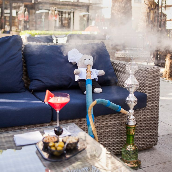 No one enjoys Le Fumoir better than Chef Teddy, with his cocktail, snacks and his shisha. #ChefTeddy