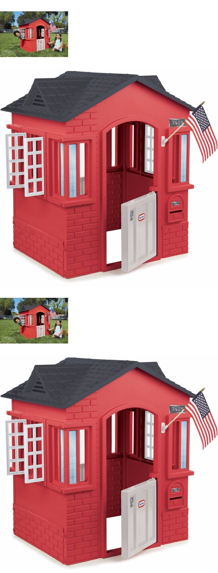 Permanent Playhouses 145995: Little Tikes Kids Cape Cottage Playhouse Red Outdoor Indoor Backyard Pretend Fun -> BUY IT NOW ONLY: $136.96 on eBay!
