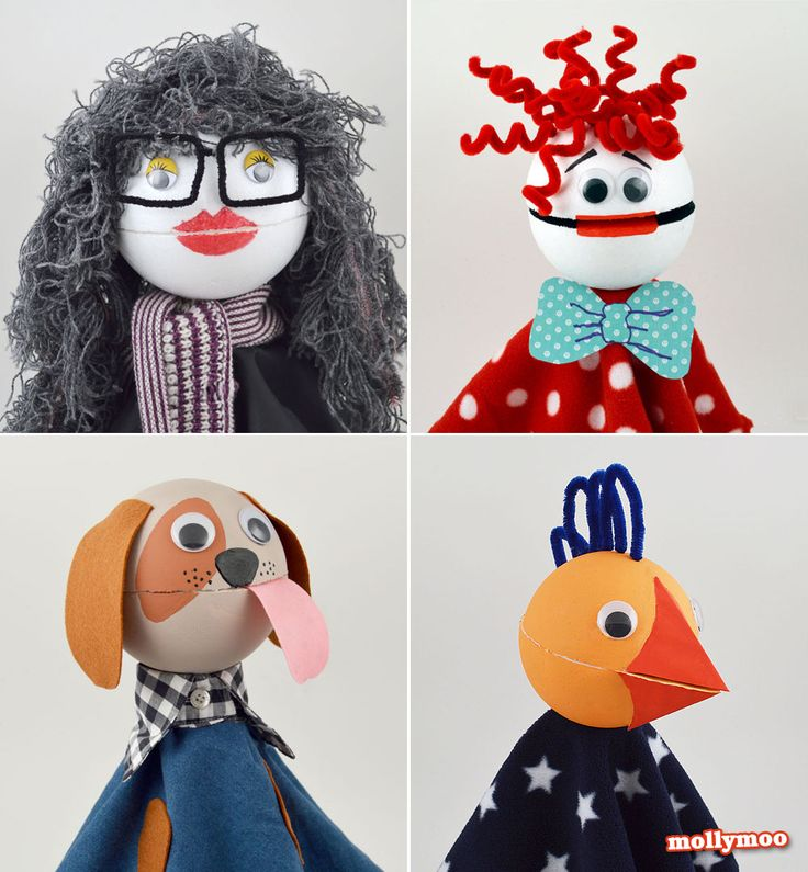 Make your own puppets with mouths that open and close!  These are amazing!
