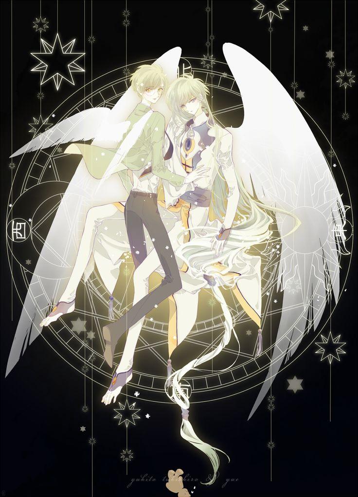 Tsukishiro Yukito and Yue_Cardcaptor Sakura