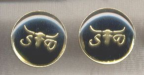 Gold Plated Monogrammed SV with Steer Head Cufflinks //Price: $8.00 & FREE Shipping //     #vintage