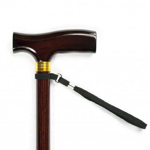 Laska regulowana Haga to nowoczesna laska do podpierania, z prostym ciemnym, niezbyt dużym uchwytem o lekko zaznaczonych wgłębieniach na palce. Trzon aluminiowy, z regulacją wysokości malowany w ciemnobrązowy wzór przypominający słoje drewna. Laska wyposażona w opaskę nadgarstkową, która pozwala zawiesić laskę na ręce, gdy potrzebne są obie dłonie. Dostępna na www.OrtoModa.pl