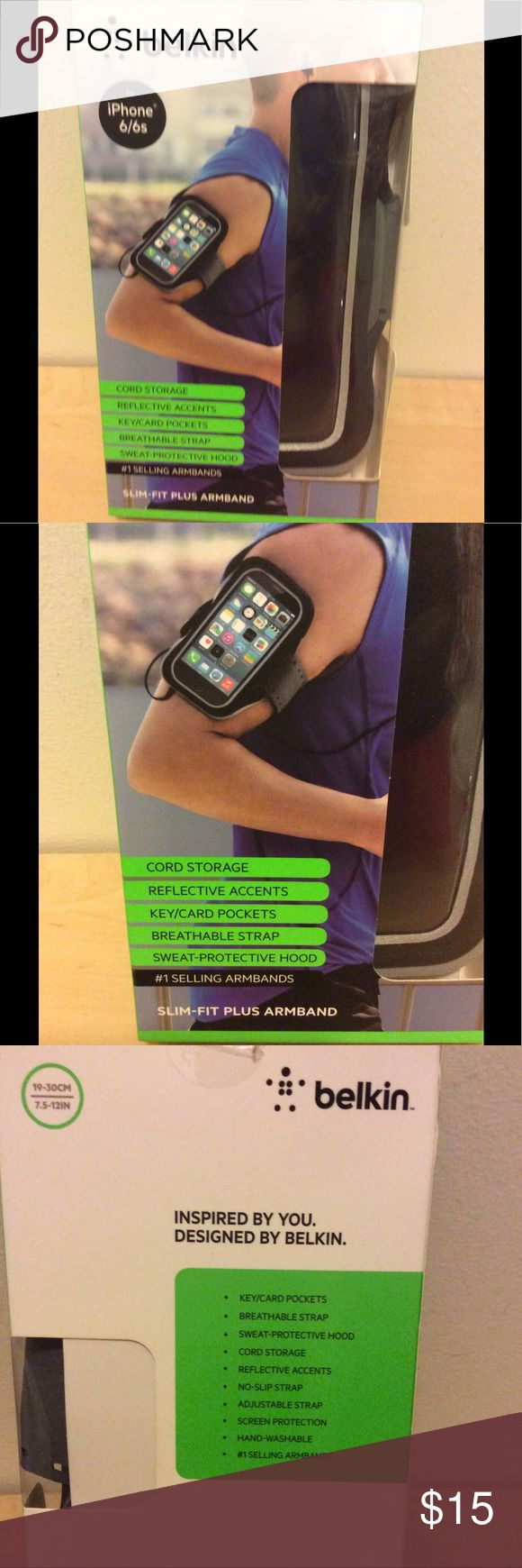 New~ Belkin  IPhone 6/6s armband New fits iPhone 6& 6s belkin Accessories Phone Cases