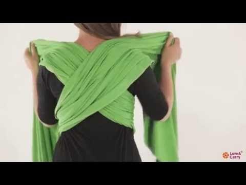 Los nudos basicos y posiciones de porteo - YouTube