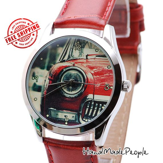 Retro Car Watch Сlassical Unisex Wrist Watch by HandMadePeople
