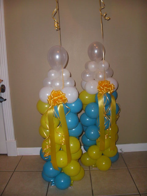 437 best balloon baby shower parties decorations images for Baby bottles decoration