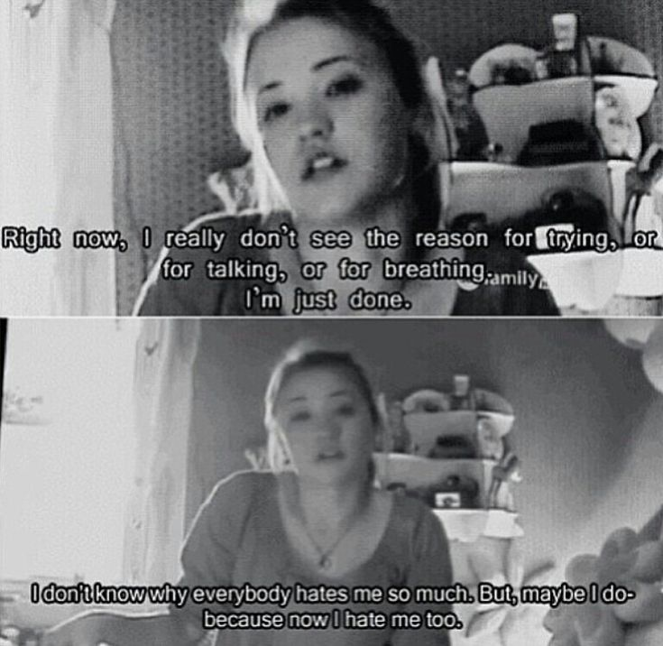 Sad Quotes About Depression: Watch Cyberbully Because I Learned A Lot From It And It