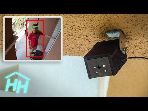 IoT Raspberry Pi security camera running OpenCV for object detection