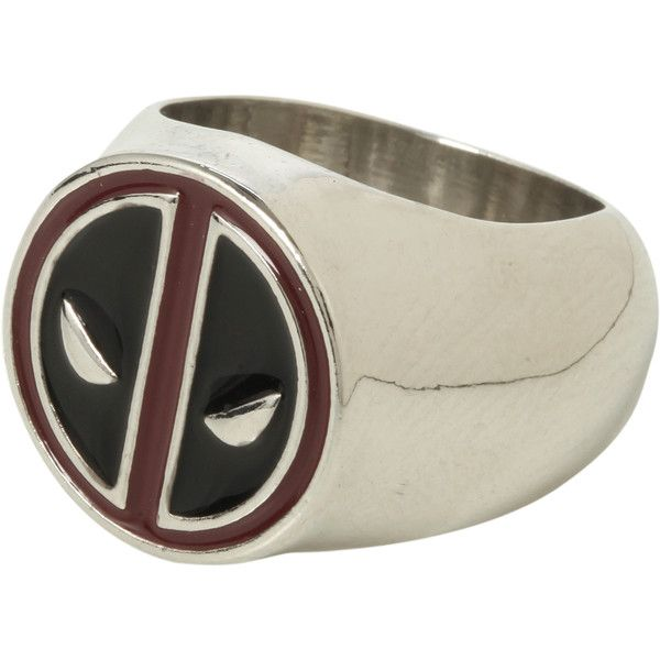 Marvel Deadpool Ring | Hot Topic ($8.50) ❤ liked on Polyvore featuring jewelry, rings and red and black jewelry
