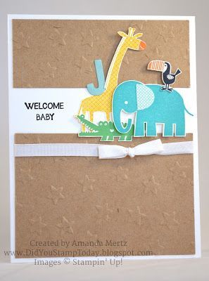 Welcome New Baby - Stampin' Up! Zoo Babies