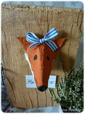 Fuchs aus Eierkarton / Fox made of egg carton GENIAL