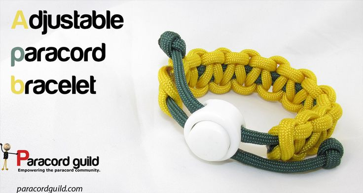 How to make an adjustable paracord bracelet.