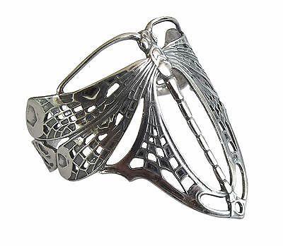 Jugendstil Armspange 925 Silber Libelle Bracelet Art Nouveau Dragonfly armgl4