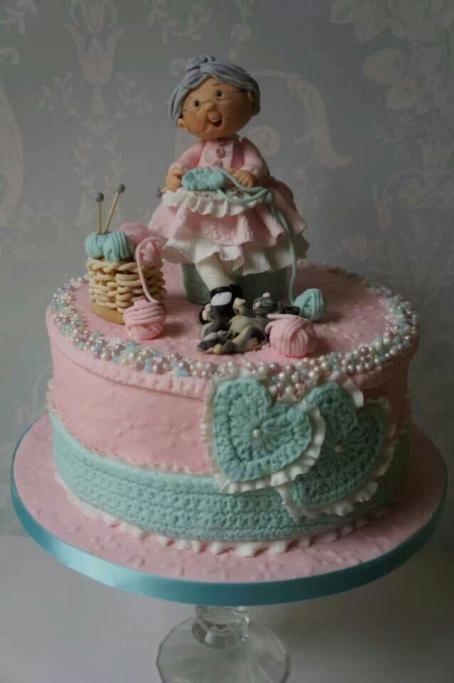 Cake Design For Grandma : 17 Best images about Granny birthday cake on Pinterest ...
