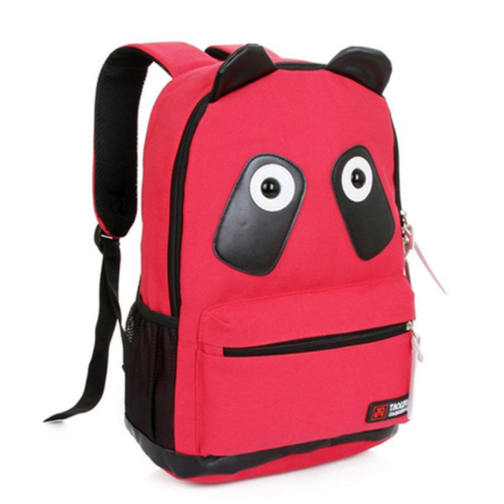 9 Color Canvas Women's Panda Backpack School Book Campus Backpack Panda Bag Book Bags With Kongfu Panda Cute College Backpacks