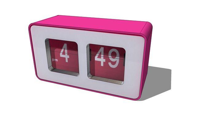 Réveil rose Loft, Maisons du monde. Réf: 143110, Prix: 19,99 € - 3D Warehouse