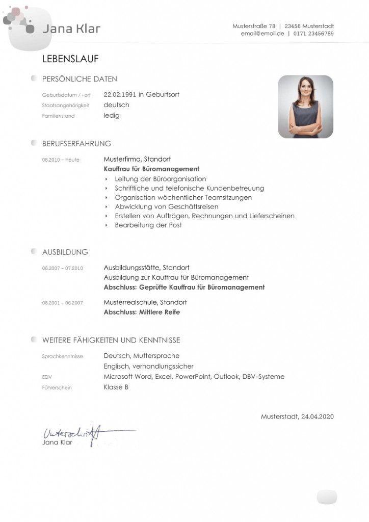 Lebenslauf Student Vorlage Word 2021 Document Templates Templates Standard Cv Format