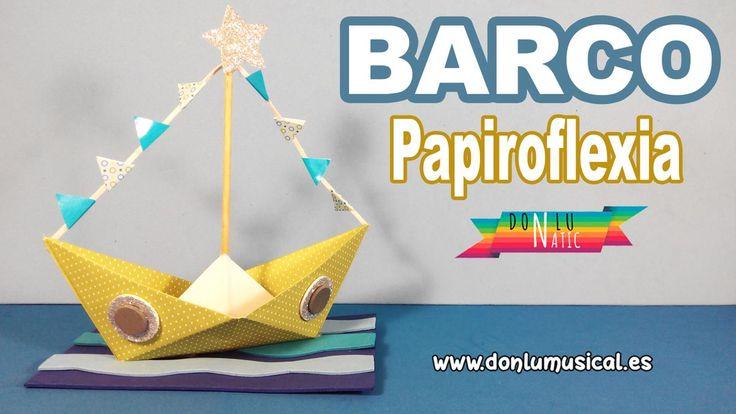 Barco de papel paso a paso papiroflexia DONLUNATIC | Manualidades