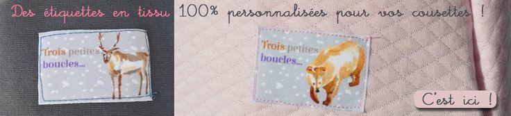 Des étiquettes en tissu 100% personnalisées pour vos cousettes !  E-SHOP : http://www.corail-indigo.com/boutique/etiquettes-a-coudre-personnalisees/