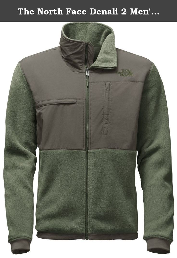 The North Face Denali 2 Men's Jacket(Medium,Recycled Rosin Green/Fusebox Grey). The natural evolution of The North Face icon, the Denali 2 Jacket updates the signature look with high-performance fleece and a recycled fabric construction. Relaxed Fit. Zip-in design pairs with compatible garments from The North Face triclimate line. Polartec 300 Series fleece Highly lofted, double-sided poly fleece increases internal surface area to more effectively retain warmth. Inherently hydrophobic...