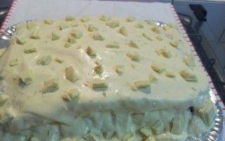 Receita de Bolo com recheio de leite ninho com chocolate branco