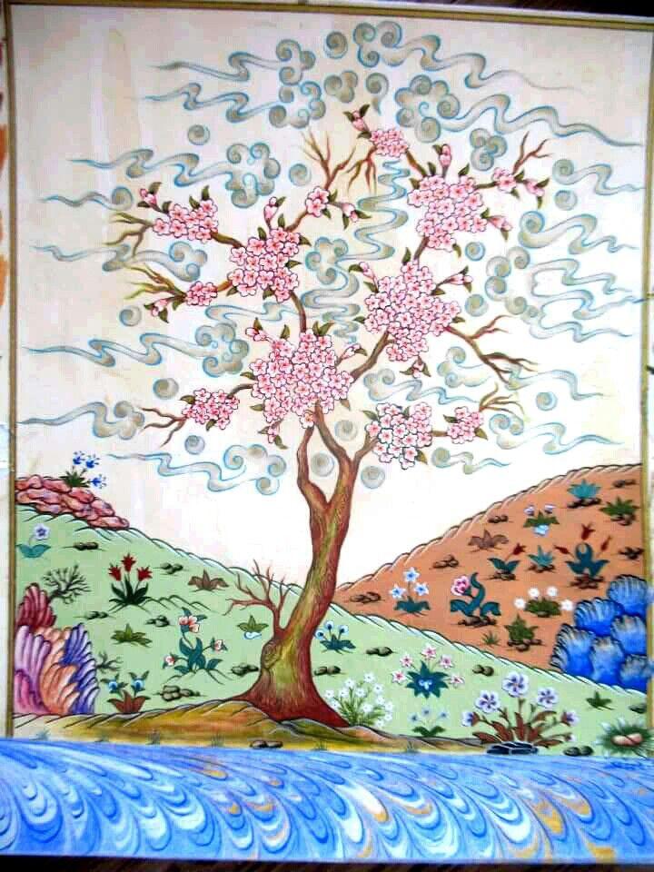"""""""Bahar Ağacı"""" Minyatür: Sezen Okur Altıner"""