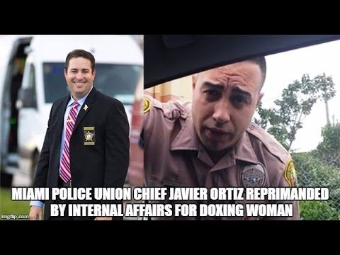 Miami Police Union Chief Javier Ortiz Reprimanded by Internal Affairs fo...