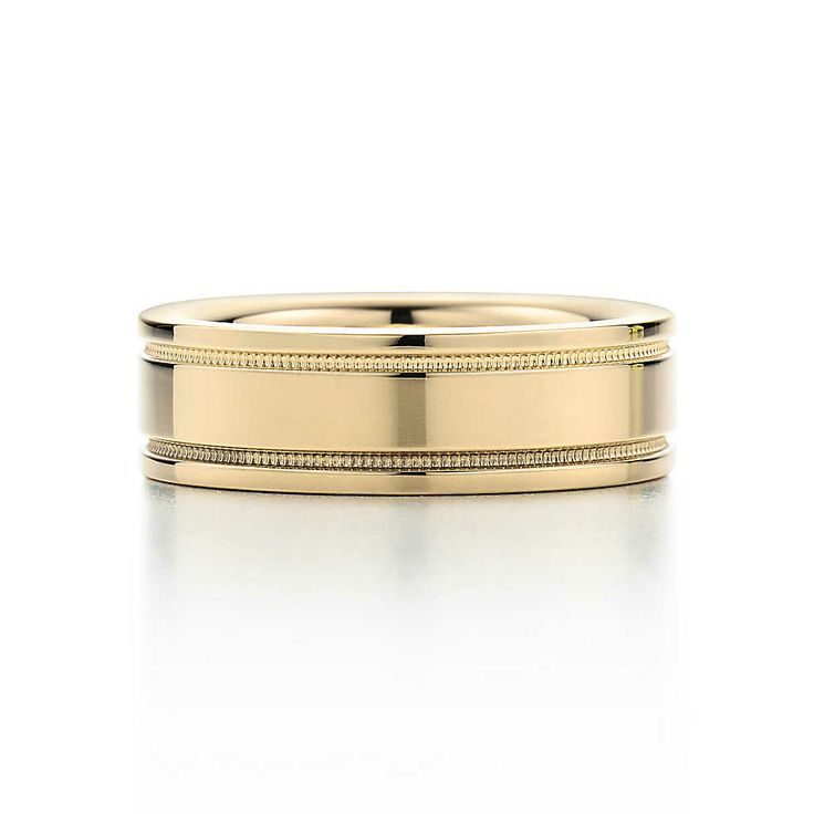 Platinum Double Milgrain 6mm Wide Flat Wedding Band Ring: 18 Best TIFFANY & Co. Men's Wedding Band Ring Images On