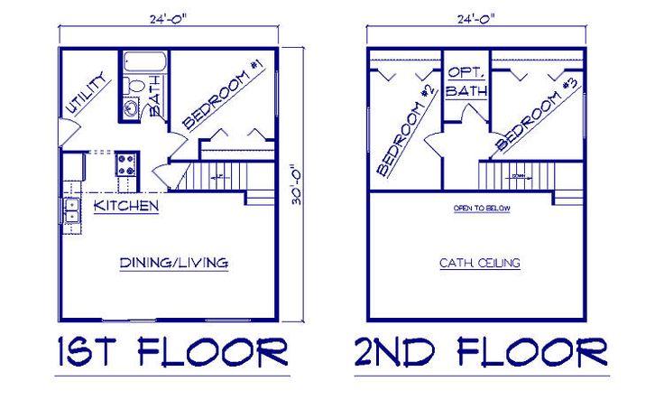 Bernard building center salt box 24 x 30 new house for 24x30 house plans