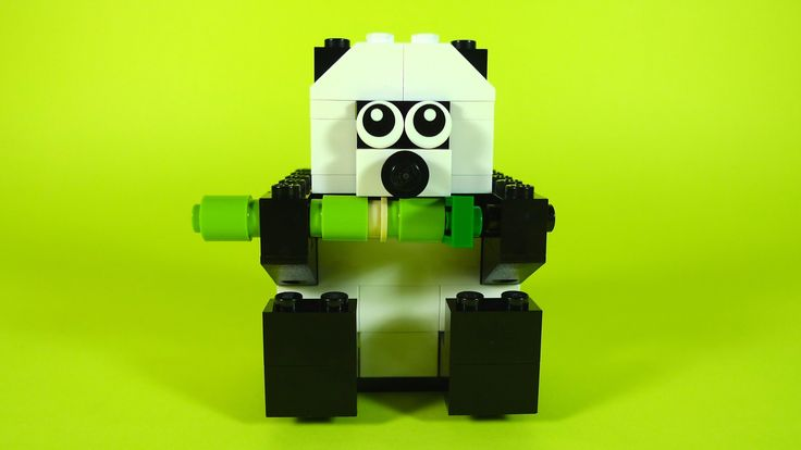 How To Build Lego PANDA - 10681 LEGO® Creative Building Cube Creations f...