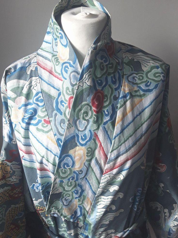 Vintage Women's cotton kimono #JeanCox #Wrap #Casual