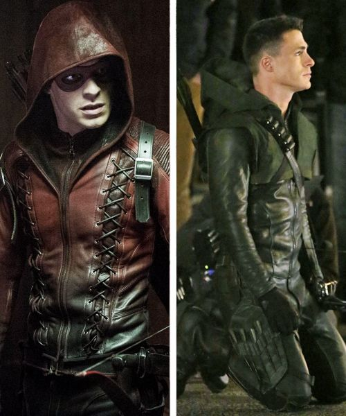 """Colton Haynes as Arsenal & Arrow--when I saw him in green in """"Public Enemy"""" I was like ohmigosh! He looks even hotter in green!"""