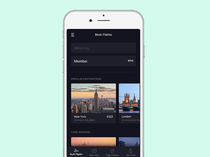 25+ trending Flight app ideas on Pinterest | App ui design, Flat ...