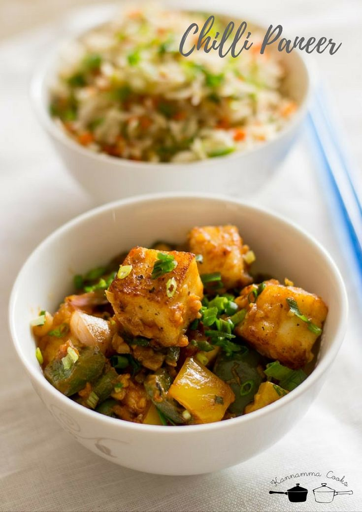 Chilli Paneer Dry Recipe, Indo-Chinese Chilli Paneer Restaurant Style recipe with step by step pictures. Spicy chilli paneer. Dry Paneer.