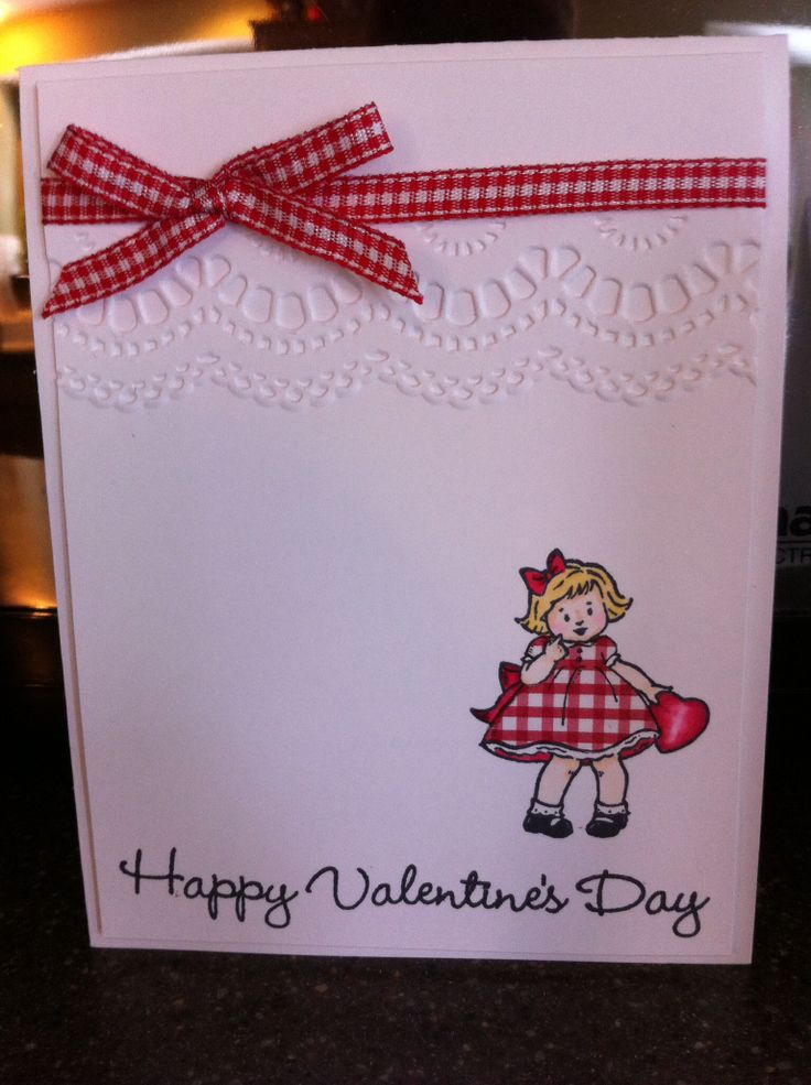 Paper pieced image from Stampin' Up's Greeting Card Kids.