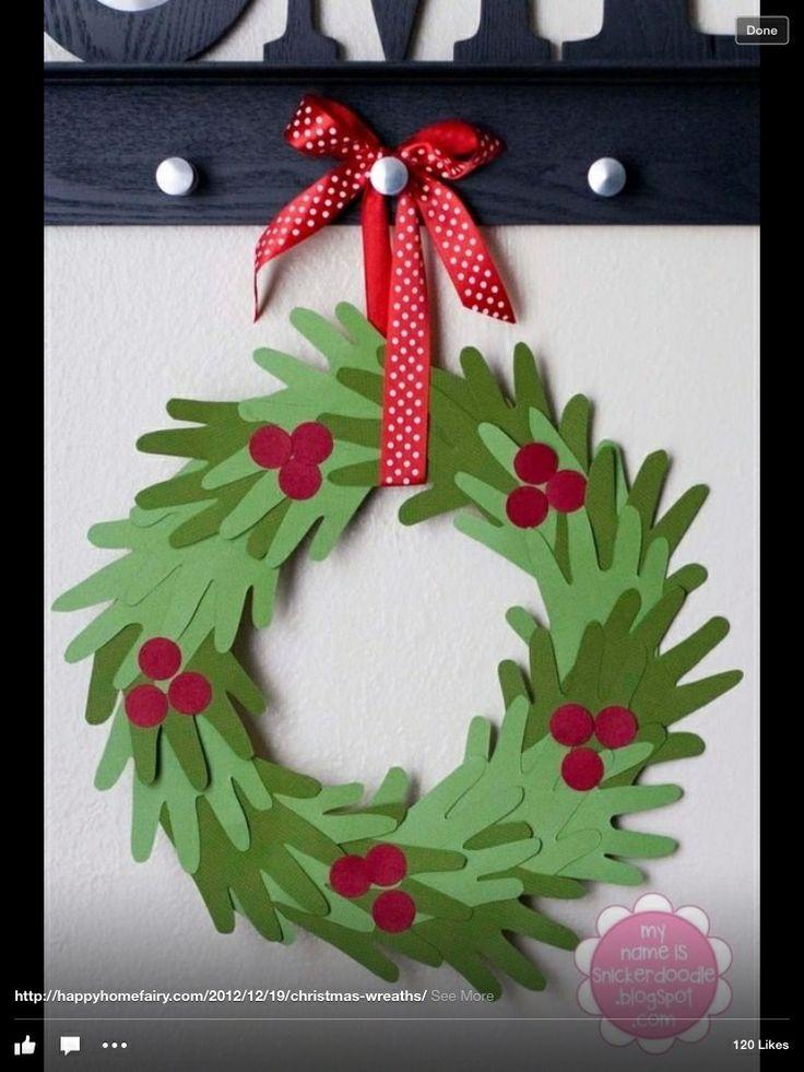 Hand shape wreath, with felt so it lasts.