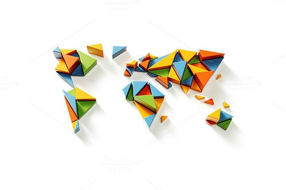Fragmented World Illustration by vladut'shop on @creativemarket