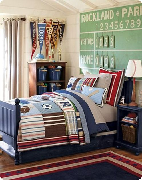 Junior Varsity Sports Bedroom Love This I Would Use All Of Our Old Baseball