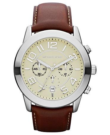 Michael Khors leather watch.