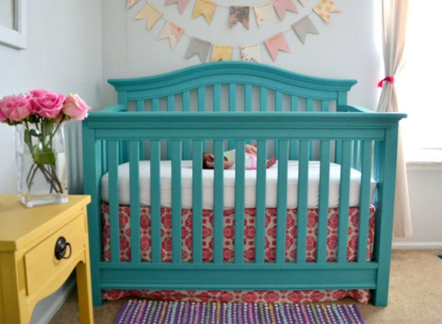 baby room furniture ideas. how to paint a crib painted cribspainted nursery furnitureteal baby room furniture ideas