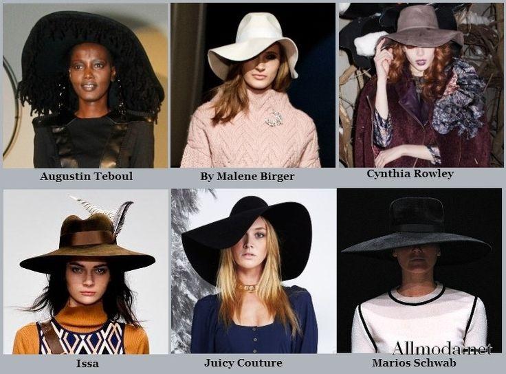 Женские широкополые шляпы - осень 2013