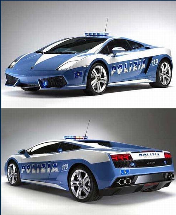 "~~ 2004 Lamborghini Gallardo Police SuperCar ~~ ""Since 2004, Lamborghini has donated several of its super-cars for use by Italian Police "" See Video at the URL above. Via YouTube and Hoax-Slayer."