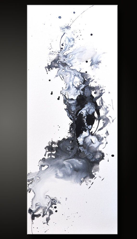 Opposed  12 x 30  Abstract Acrylic Painting  by CharlensAbstracts, $275.00