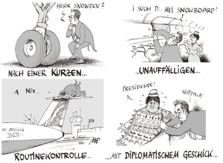 So ist also die freiwillige Nachschau im Flugzeug vor sich gegangen - Michael #Pammesberger deckt auf. #Morales #Wien-Schwechat #Snowden