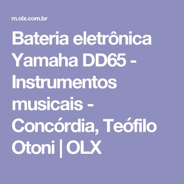 Bateria eletrônica Yamaha DD65 - Instrumentos musicais - Concórdia, Teófilo Otoni | OLX