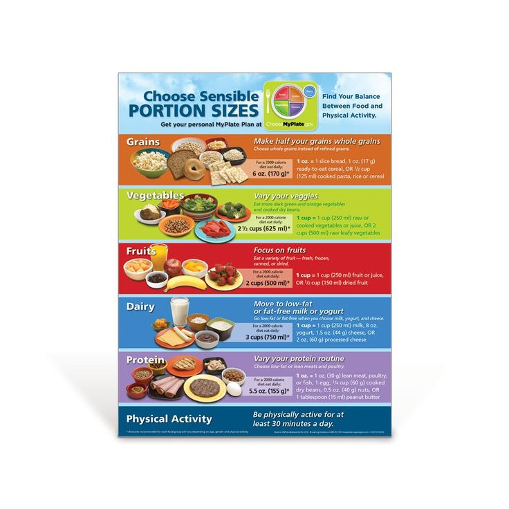 MyPlate Portion Size Poster Kids nutrition, Nutrition