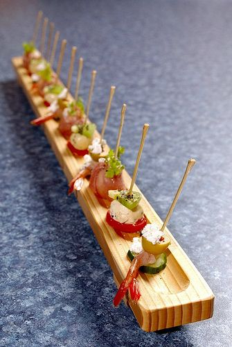 A sushi canape is a wonderful idea and steers away from a traditional canape ideas and is also different from having a sushi bar. http://www.collection26.com/
