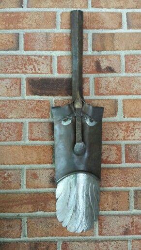 Shovel head metal art by Mike Davis.
